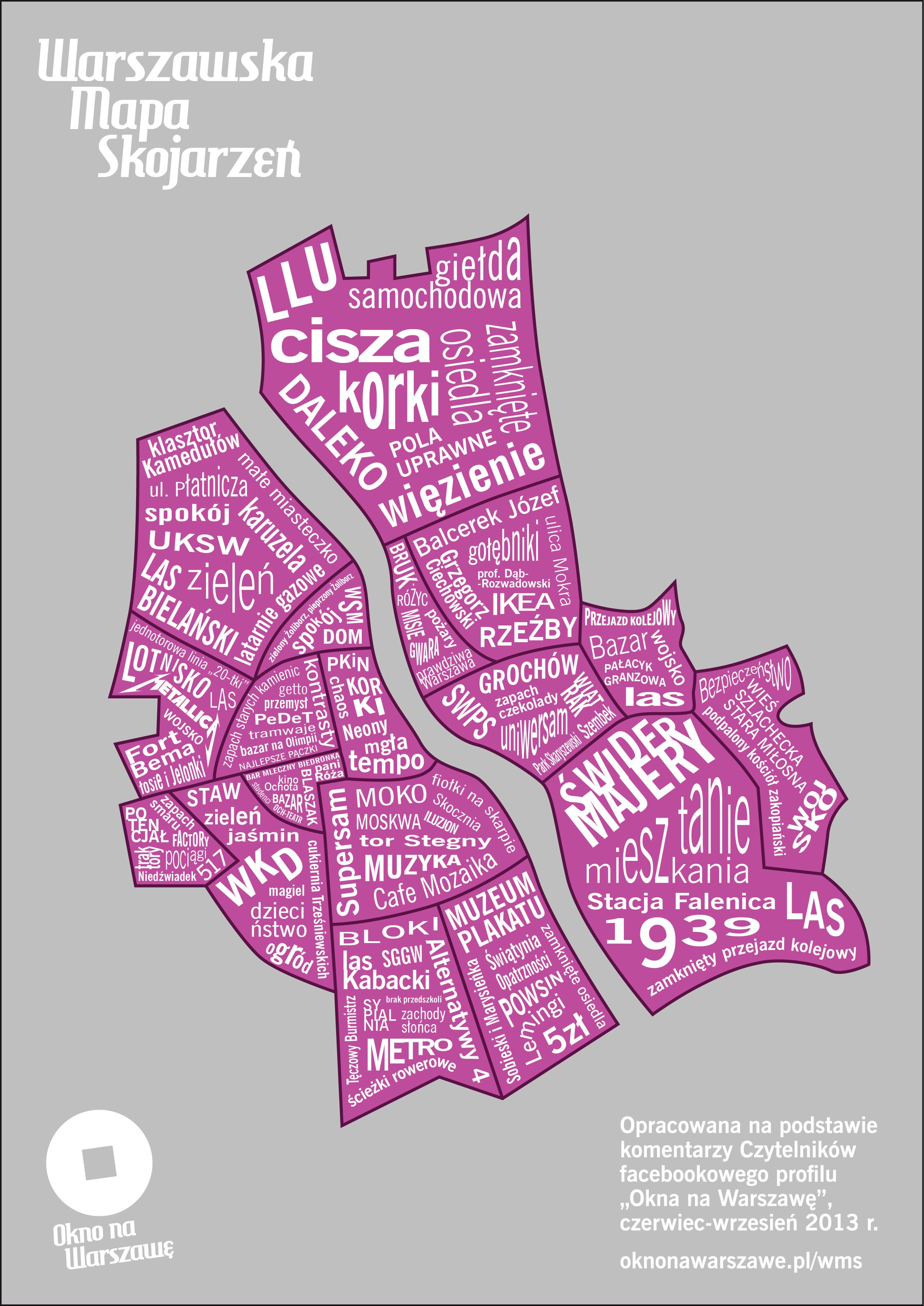 Warszawska Mapa Skojarzen Okno Na Warszawe