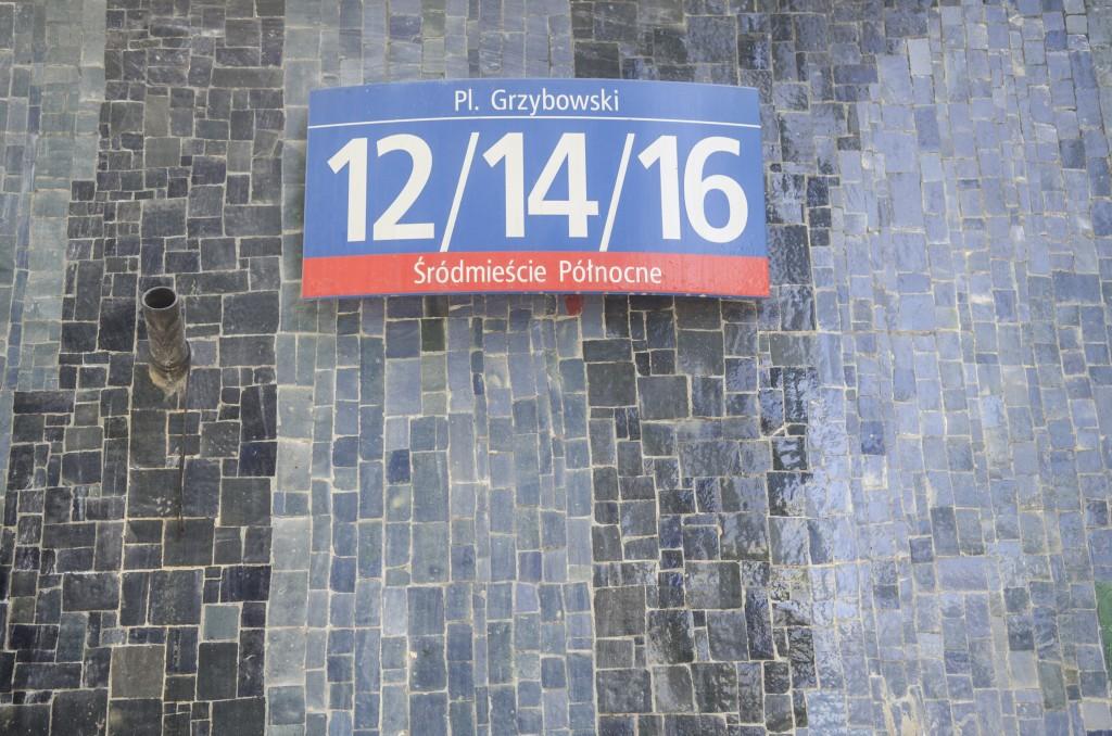 Jedna zwielu omawianych wksiążce mozaik - naelewacji Teatru Żydowskiego. Fot.Jarek Zuzga