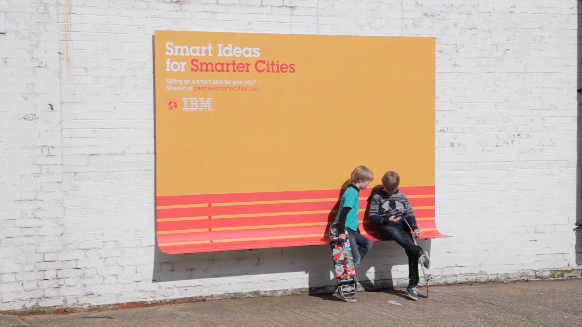 Ławeczka reklamowa zkampanii IBM