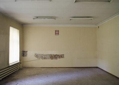 Jedna z sal, odkrywka na ścianie to efekt prac adaptacyjnych przeprowadzonych przez Instytut Lecha Wałęsy