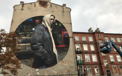 Hiszpańsko-praski mural naPradze