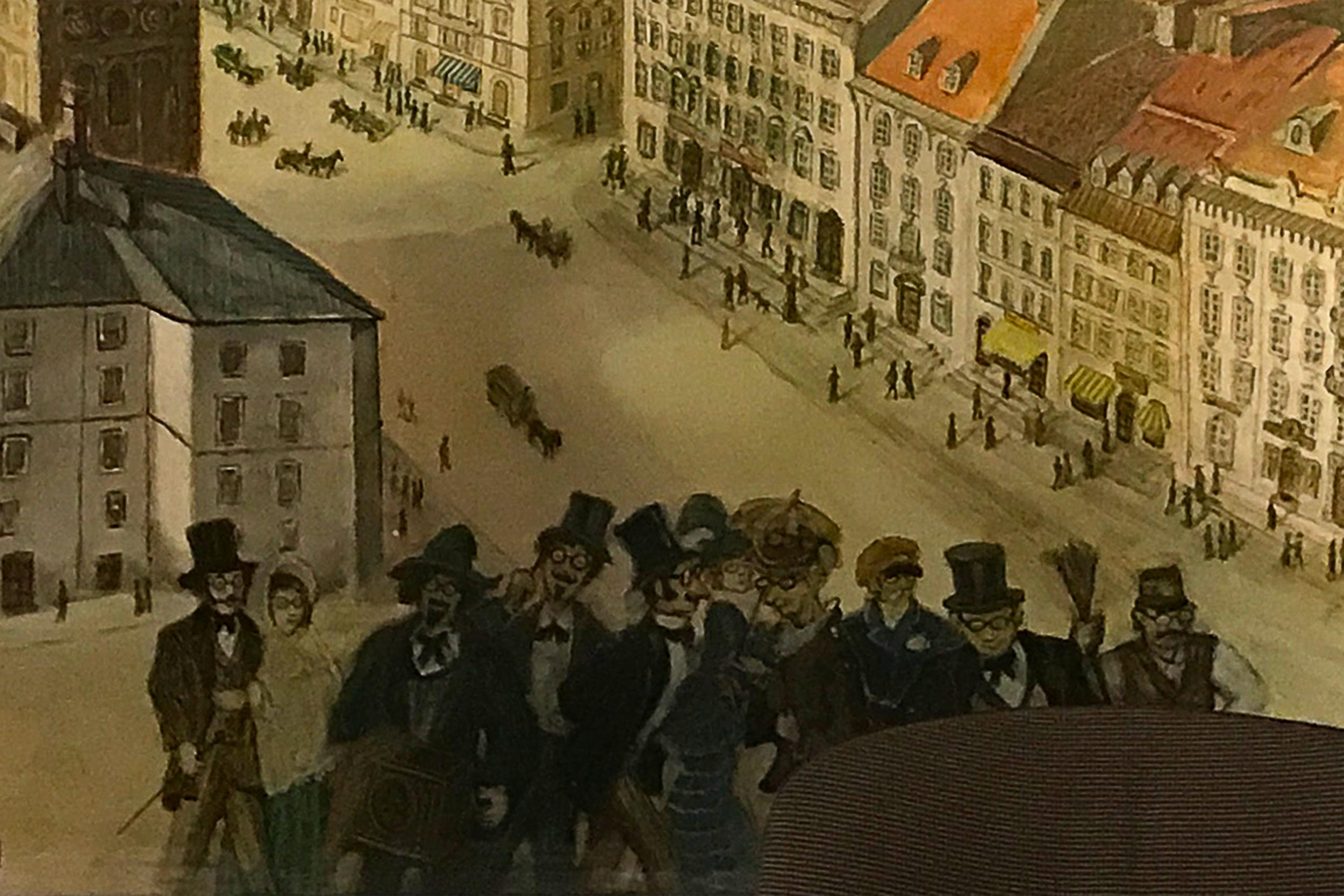 """Stanisław Miedza Tomaszewski """"Perspektywa Krakowskiego Przedmieścia"""""""