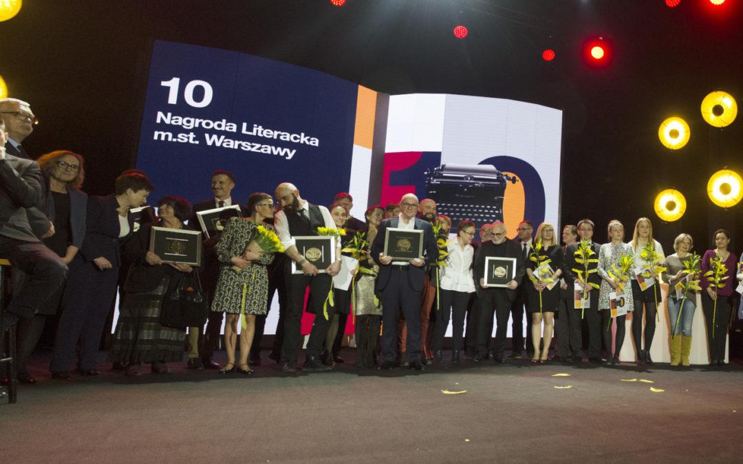 Oto zwycięzcy 10. edycji Nagrody Literackiej m.st. Warszawy