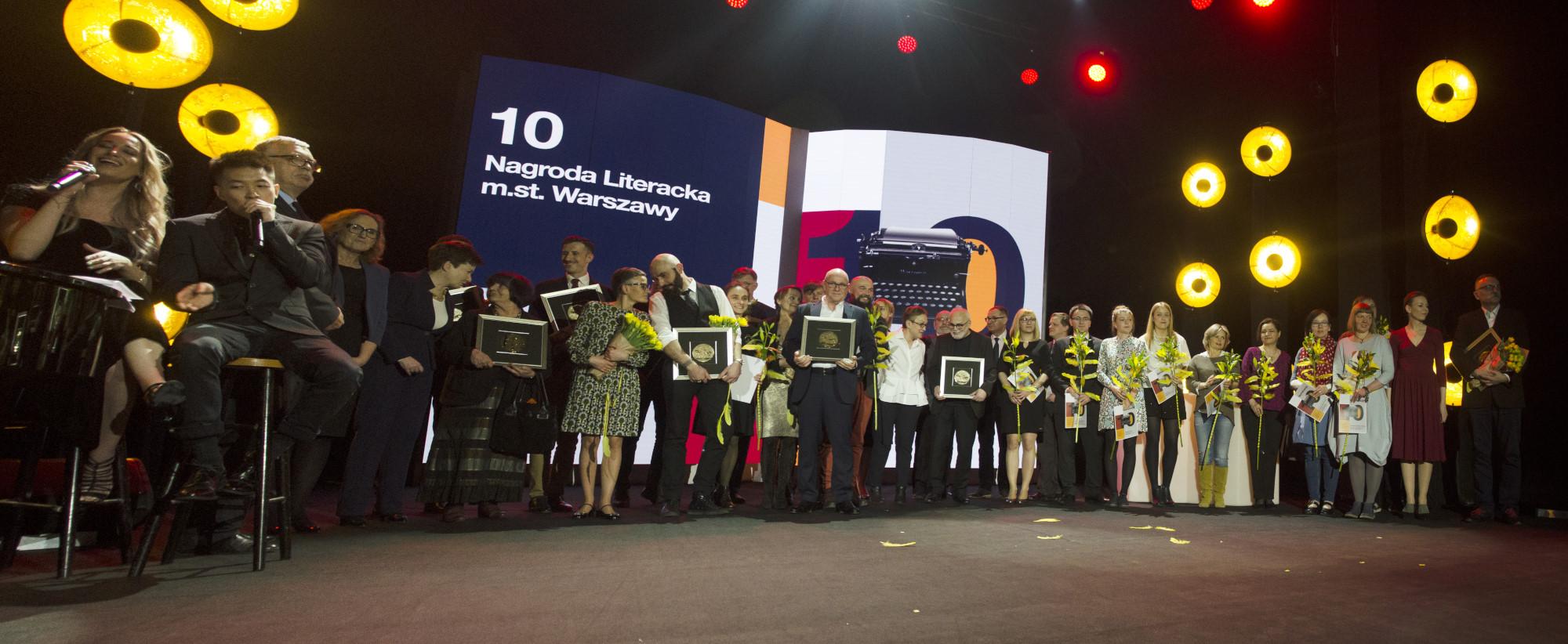 Nominowani inagrodzeni w10. edycji Nagrody Literackiej m.st. Warszawy