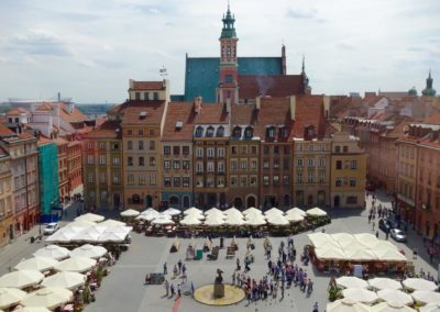 Widok na Rynek z punktu widokowego Muzeum
