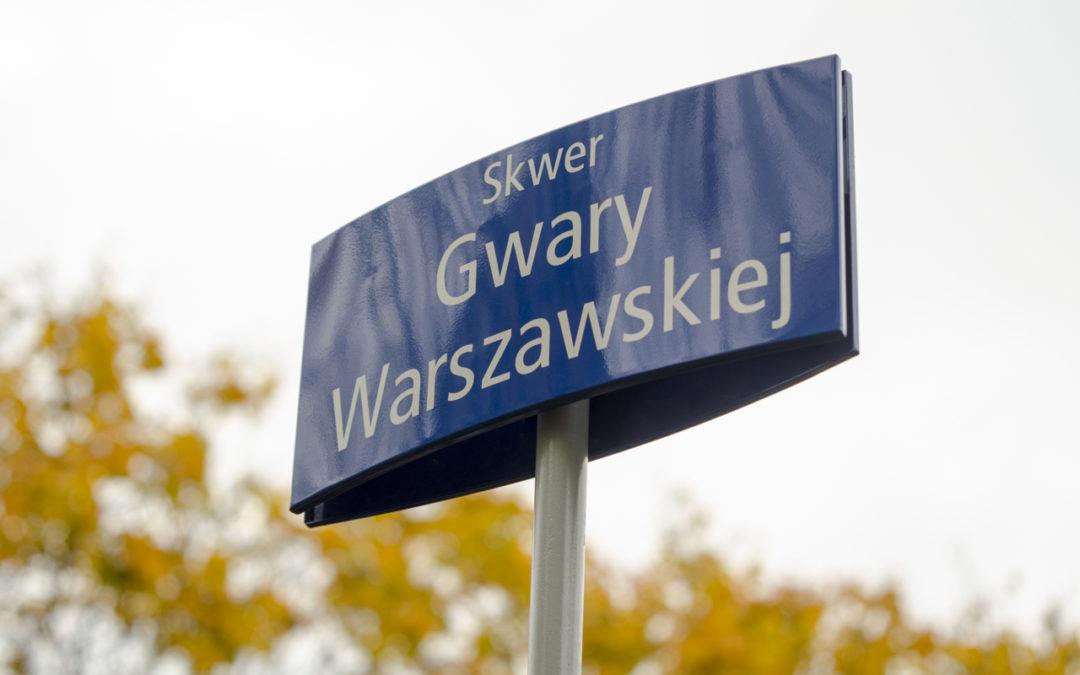 Gwara Warszawska ma swój skwer