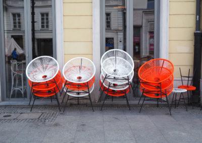 Patriotyczne krzesełka