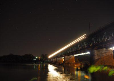 Pociąg na Moście Gdańskim