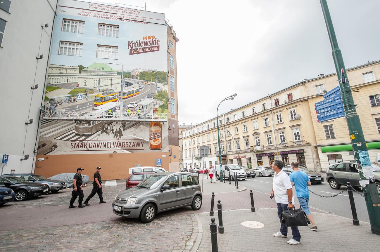 """Mural """"nabiera"""" kolorów, fot.materiały promocyjne"""