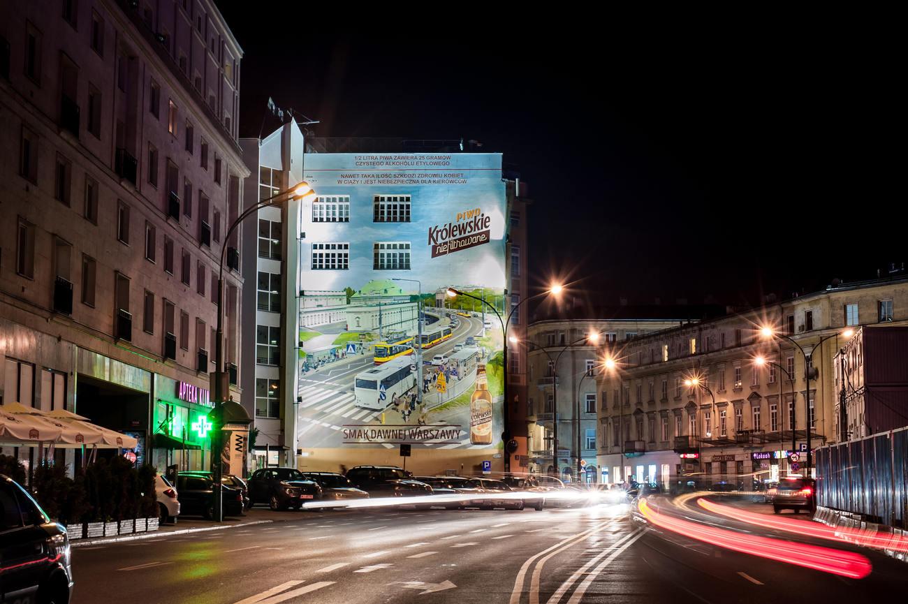 """Mural przy Brackiej - druga, """"współczesna"""" odsłona, fot.materiały promocyjne"""
