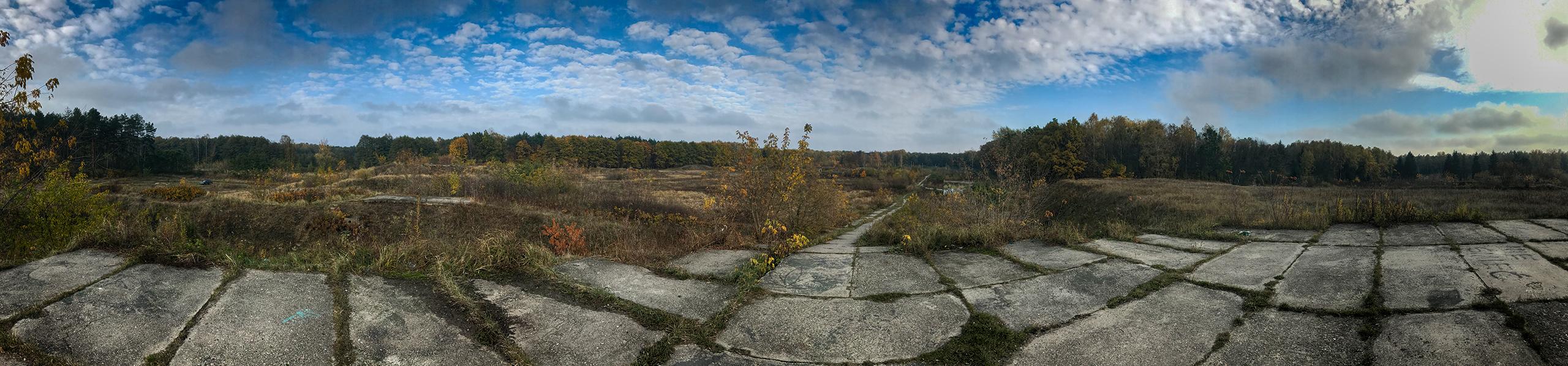 Poligon przy Łosiowych Błotach - panorama