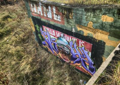 Sporo tu graffitti.