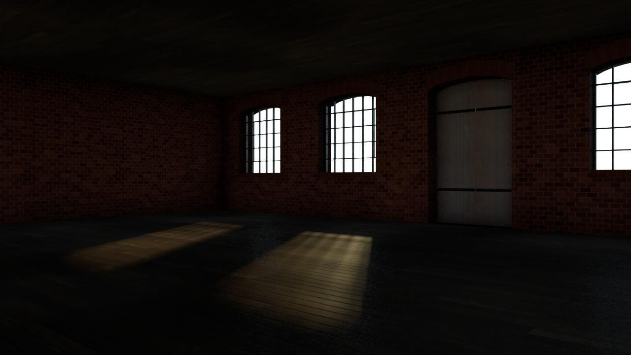 Wnętrze hali fabrycznej / rys. Michał Chęciński