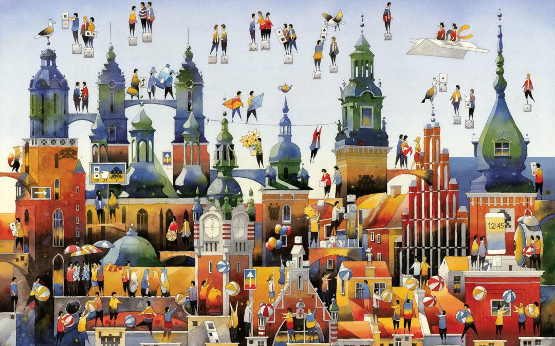 """""""Miastonauci"""" Tytusa Brzozowskiego – obrazkowa książka oniezwykłym mieście ijego mieszkańcach"""