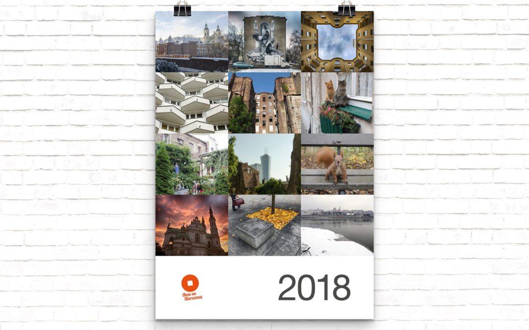 Kalendarz zezdjęciami Warszawy 2018 dowzięcia zadarmo!