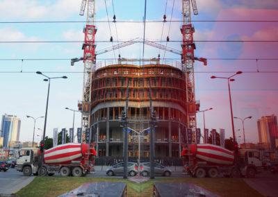 Budowa wieżowca Skyliner przy Rondzie Daszyńskiego