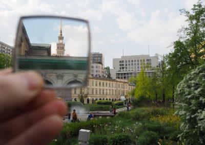 Warszawa wlustrze - plac Grzybowski