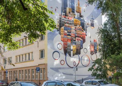 Mural przy ul. Chmielnej