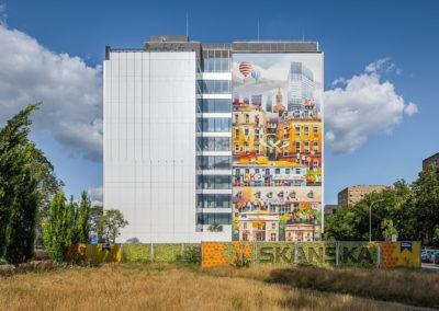 Mural przy ul. Wolskiej